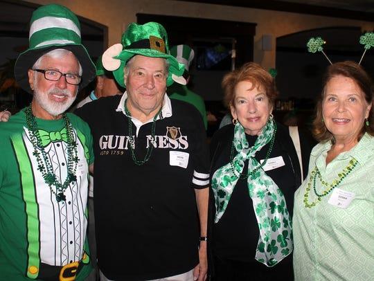 Long time friends Rob Reiley, Herb Jermanok, Ginny