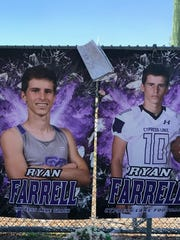 Ryan Farrell, a senior at Cypress Lake High School, died over the weekend.