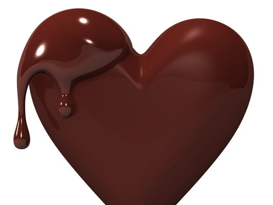 Melted Heart-shaped Chocolate