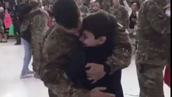 Soldiers were reunited with their families a week before Thanksgiving during ceremony in Clarksville Friday, Nov. 18, 2016.