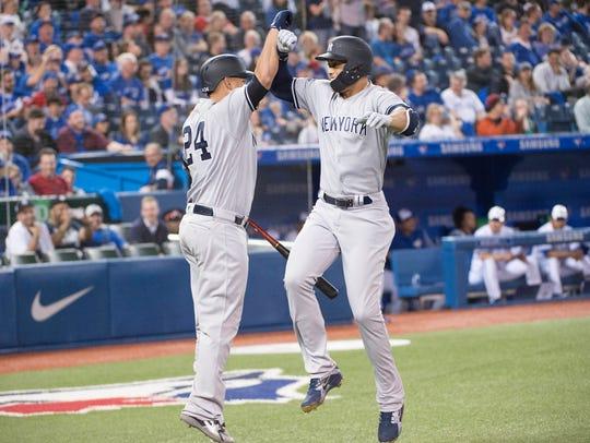 Mar 29, 2018; Toronto, Ontario, CAN; New York Yankees