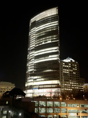 The new Northwestern Mutual tower is shown in downtown Milwaukee.
