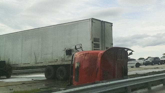 A vehicle crash caused southbound I-95 to shut down on Thursday.