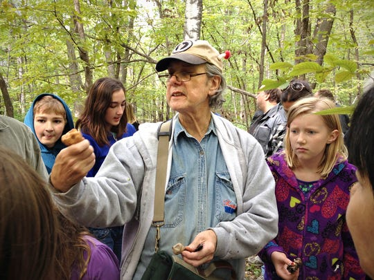 Ron Spinosa of St. Paul leads a 2014 foray following a presentation at Lake Maria State Park. He'll return Sept. 18 for another free presentation.