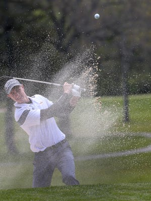 Gunnar Doyle, Pittsford Sutherland, at the Monroe County Tournament of Champions at Deerfield Country Club.