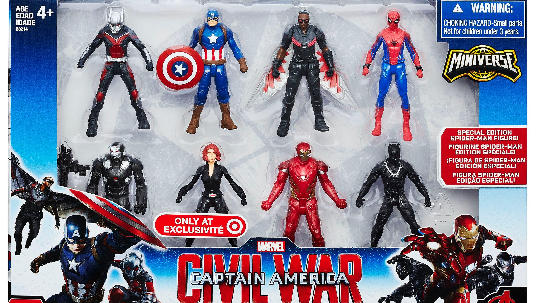 Sets Figuras Capitán América Civil War Iron Man Spider man MARVEL SUPER HEROES