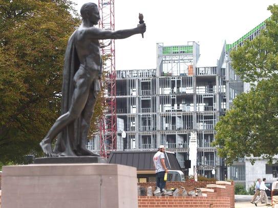 Construction takes place in and around University of