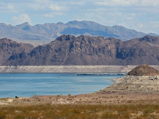 The water level of Lake Mead has been declining for