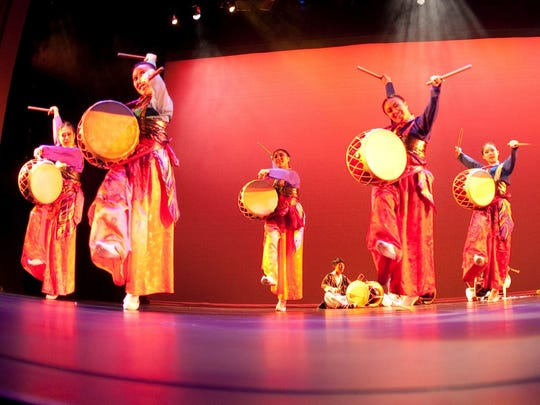 Performances by the Morning Star Korean Cultural Center's Korean Christian Dance & Music Troupe are related to stories in the Bible.