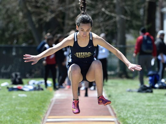 Shea Gilmor of Indian Hills competes in the girls long