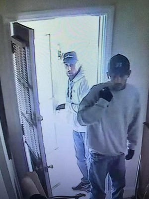 These men are being sought in relation to a burglary in East Greenwich.