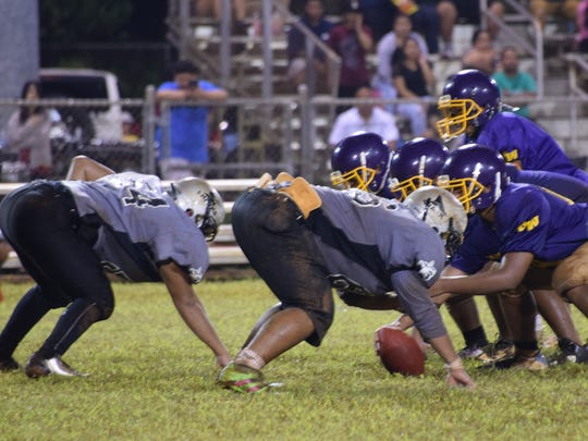 The Simon Sanchez Sharks and George Washington Geckos faced off in IIAAG High School Football action on Friday night.