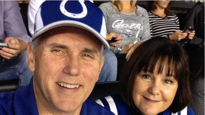 Mike Pence recycled a photo he used on Twitter from Sunday's Colts game.
