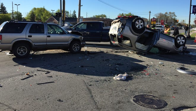 At least four vehicles were involved in a crash at 24th and Griswold streets.