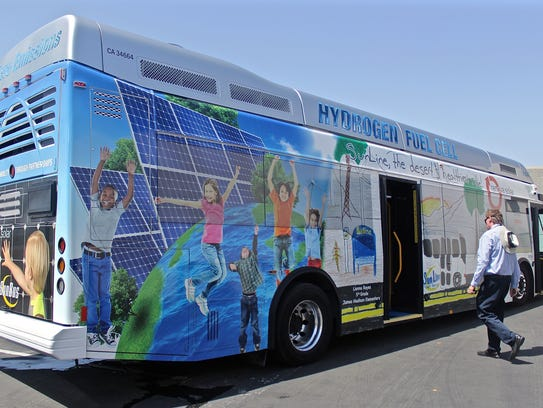 SunLine has hydrogen fuel cell buses within its fleet.