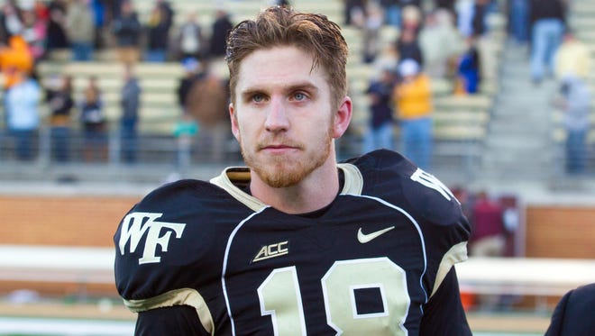 Pine City native Mike Weaver kicked two field goals and seven extra points Friday to help Wake Forest to a 55-52 victory over Texas A&M in the Belk Bowl.