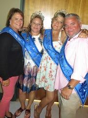 Krewe Atlas court members at Krewe Artemis-Springhill coronation included Andrea Tatum, Karen Pierce, Jodie Semon, Trey Blair.