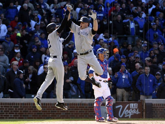 May 5, 2017; Chicago, IL, USA; New York Yankees left