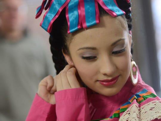 Brenda Aguilar of the Tonantzin Dance Company puts