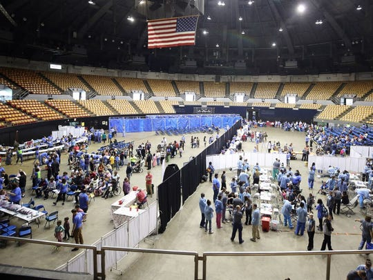 Close to 1,000 people sought free health care at Saint