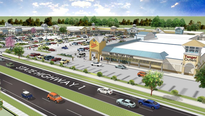 A rendering of the Tanger Outlets Bayside renovation.