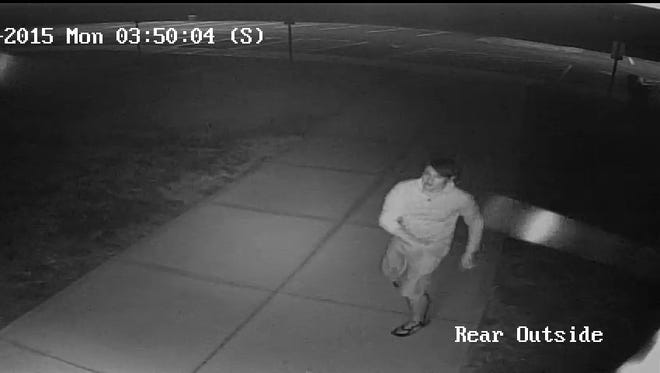 Police said the individual was caught on video on the night of the offense.