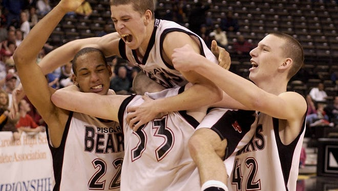 Pisgah won the NCHSAA 2-A boys basketball championship in 2005.