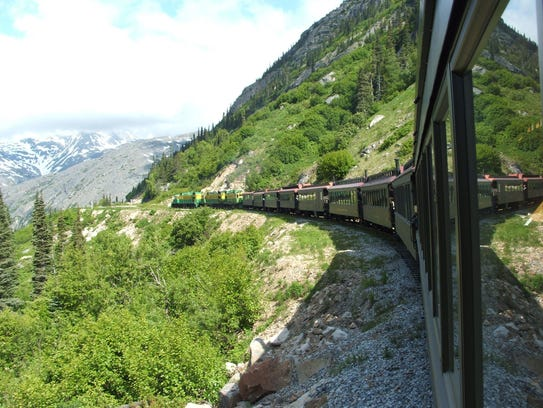 The White Pass and Yukon Route Railroad takes you in
