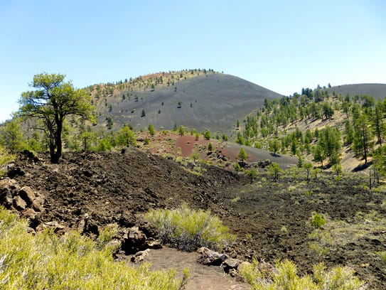 The landscape around Sunset Crater still bears the