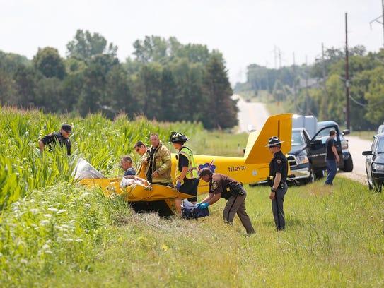 A plane owned by SONEX Aircraft LLC in Oshkosh crashed