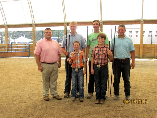 The following members were showmanship winners in their
