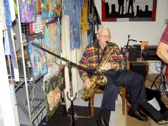 Retired physician Joe Mock is on sax.