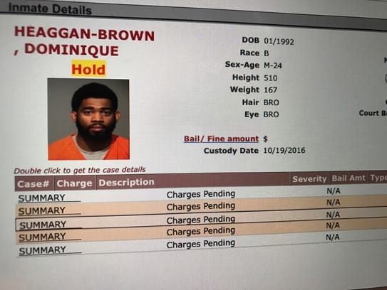 Officer Dominque Heaggan-Brown has been arrested on