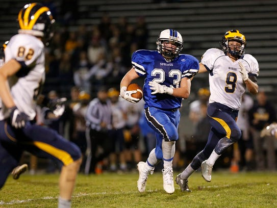St. Mary's Springs' Fintan Floyd carries the ball during