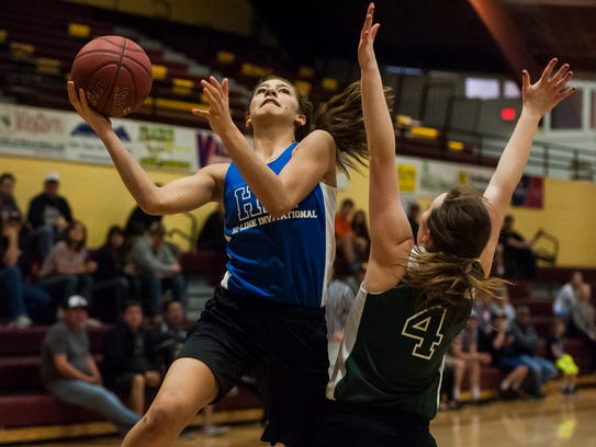 Tavia Rooney of Townsend looks to score.