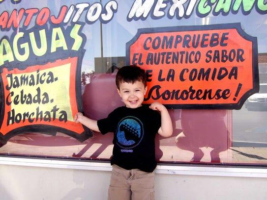 Matteo Armato standing outside El Yaqui, a Mexican