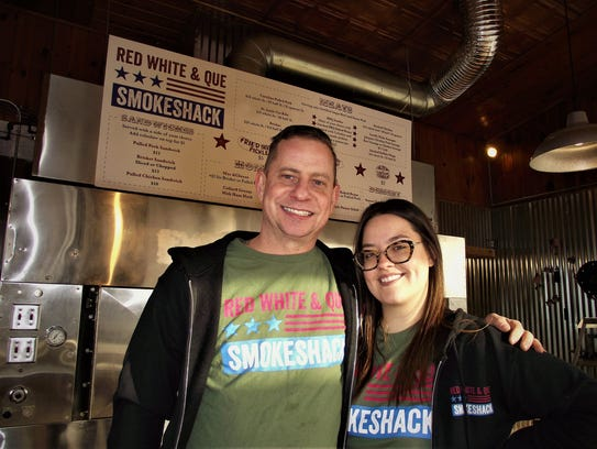 Red White & Que owners Dan and Katie Misuraca opened