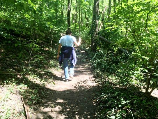 Warner Nature Center naturalist Heather Gallagher on
