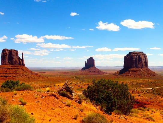 Straddling the Arizona-Utah border, Monument Valley