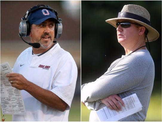 Oakland coach Kevin Creasy (left) and Siegel coach