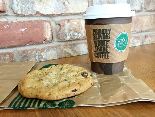 Coffee and a chocolate chip cookie make a nice post-lunch