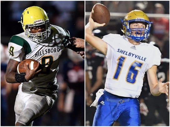 Hillsboro's Jacob Frazier (left) and Shelbyville's