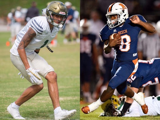 Knoxville Catholic's Dashon Bussell (left) and Beech's