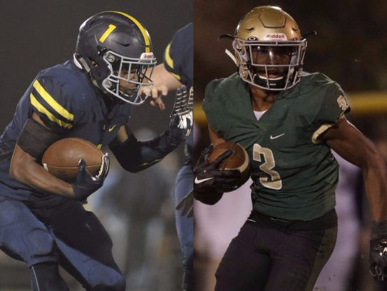 Lausanne running back Eric Gray (left) and Notre Dame