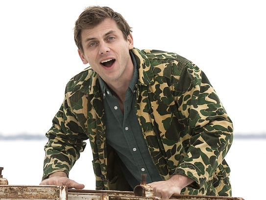 Comedian Charlie Berens of Los Angeles poses for photos