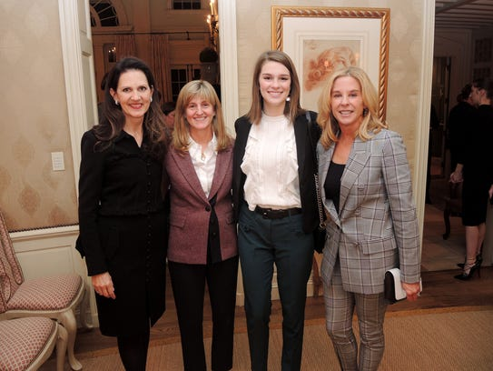 Laura Landstreet, left, Cathy Brown, Molly White and