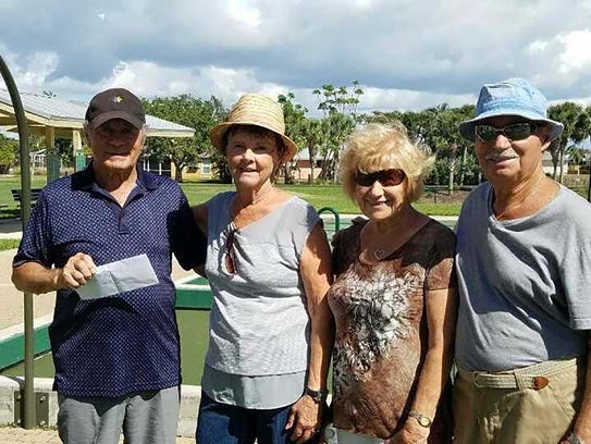 Third place winners were, from left, Gino Pasquinelli,