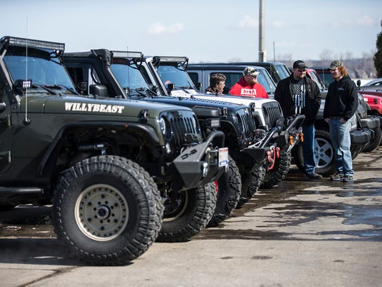 Jeep enthusiasts Christine and Dan Guell of Fond du