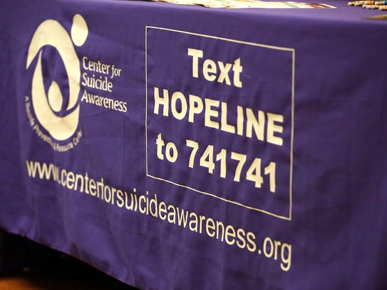Tables of resources of mental health items greeted