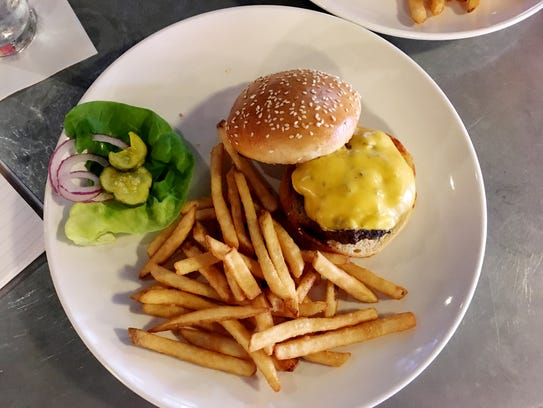 The $5 wednesday burger deal at Table 3 in Green Hills.